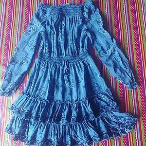 Epic Threads blue off shoulder dress